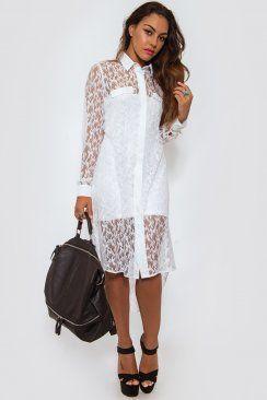 Oversized White Lace Shirt