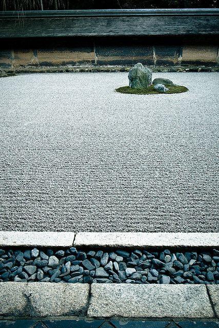 龍安寺 Ryoanji, Kyoto. Variedad de superficies y texturas.