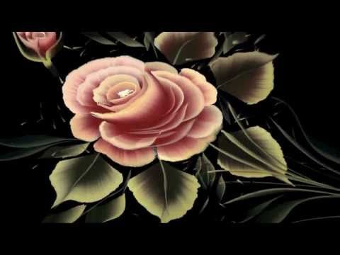 PINCELADAS PINTURA DECORATIVA ROSAS CON JULIUS (Pincel Angular) - YouTube