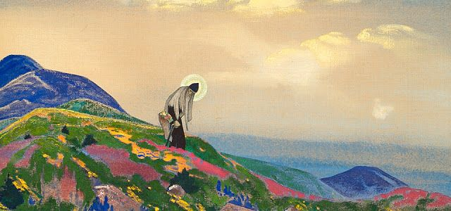 I tottally enjoyed to discover this artist. Mystic Yatra: Himalayas Through the eyes of Nicholas Roerich 187...My neighbour and an amazing artist, finds his own mountains through a spiritual hand. #Roerich #India #Himalayas #art #mountains #spirituality