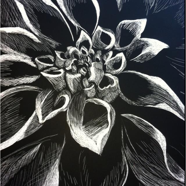 Easy Scratch Art Flowers