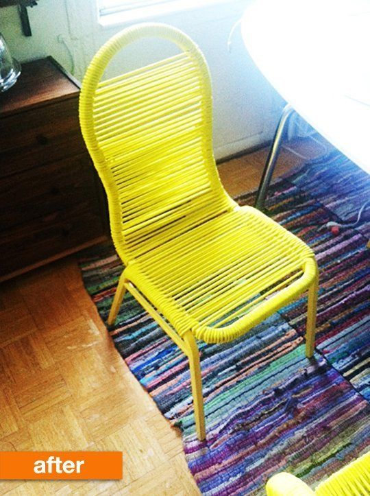CLEVER!  Before & After: A Bold Banquet Chair Upgrade | Apartment Therapy