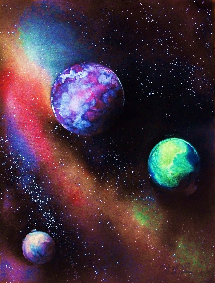 airbrush space painting 3 by chad labombarde. Black Bedroom Furniture Sets. Home Design Ideas