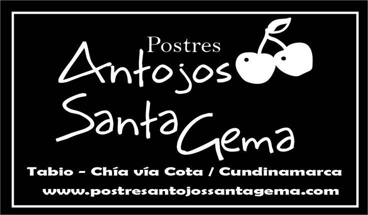 Diseño Contraste Logo fondo negro letra blanca, para screen. POSTRES ANTOJOS SANTA GEMA - //Categoría: P.O.P. /Merchandising