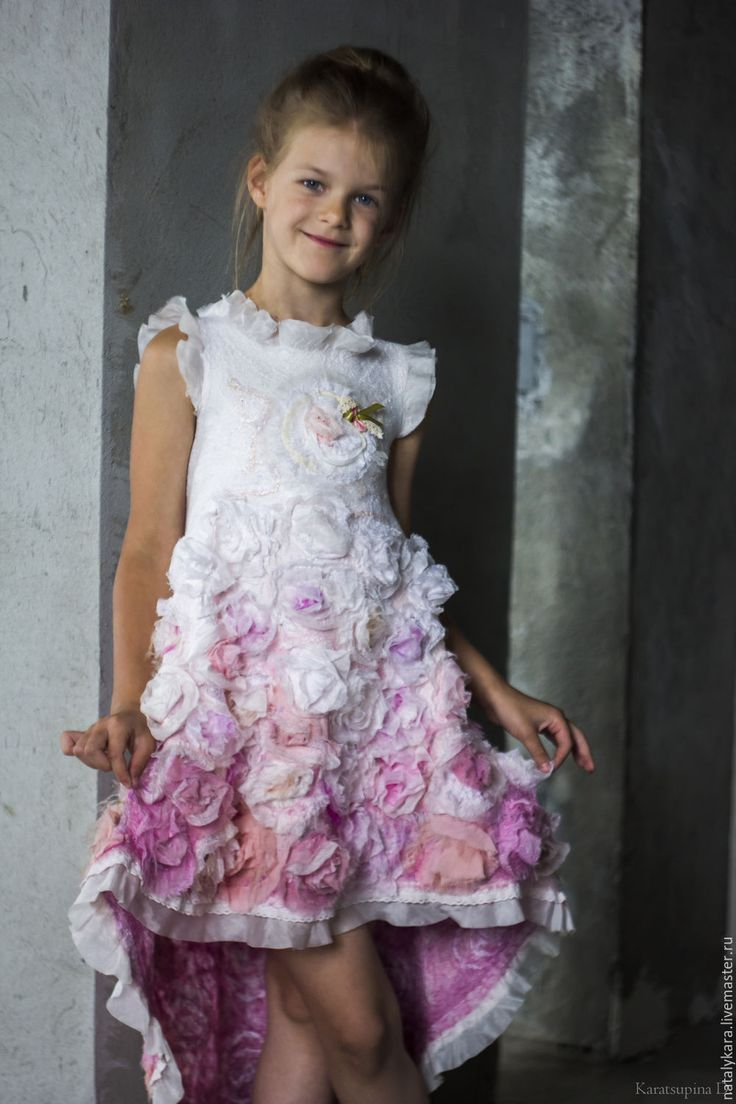 Beautiful felted dress for a girl