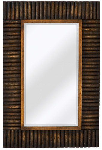 CR Mirrors Rectangular Wood Trimmed Wall Mirror CM-2011-B