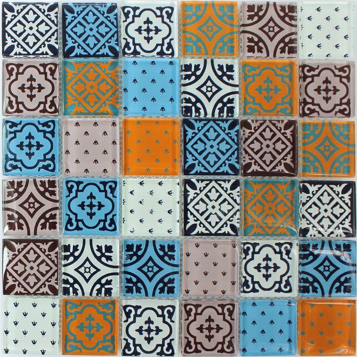 die besten 25 glas mosaik fliesen ideen auf pinterest glasmosaik fliesen gartenmosaiken und. Black Bedroom Furniture Sets. Home Design Ideas