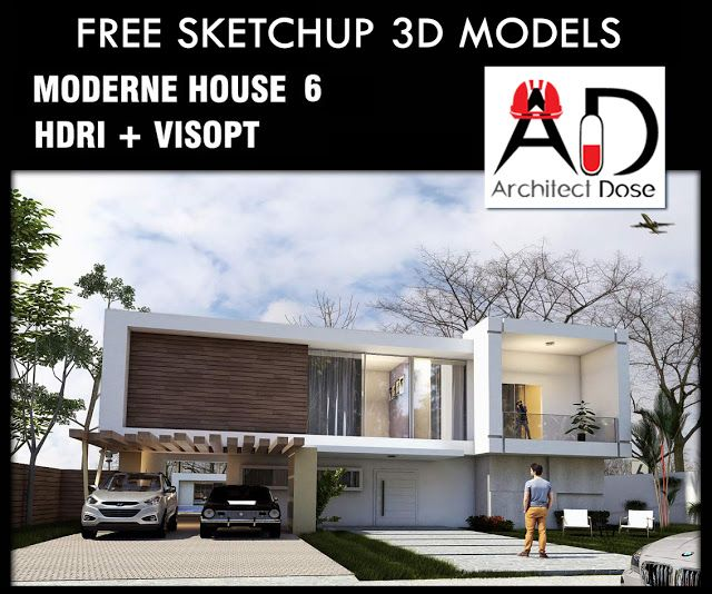 SKETCHUP 3D MODELS   MODERN HOUSE