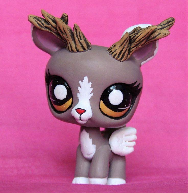 Littlest Pet Shop chibi Deer Forest Spirit OOAK custom figure LPS Angel Faun #Hasbro