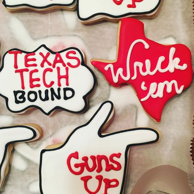 Texas Tech Sugar Cookies by BakedDesignsTX on Etsy https://www.etsy.com/listing/281583496/texas-tech-sugar-cookies