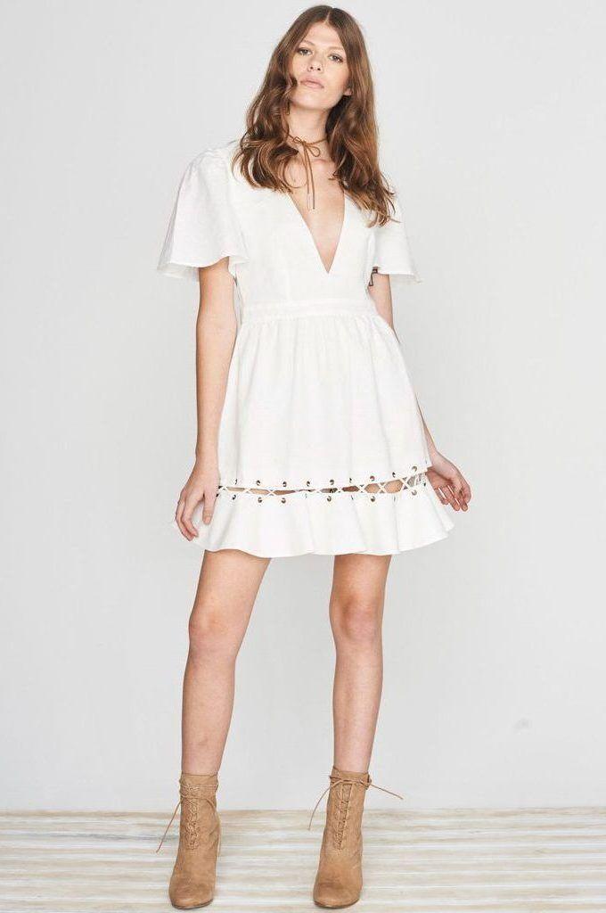ISLA  - Label Positano Days Dress White