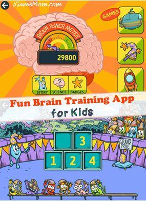fun brain training app for kids - teaching kids how brain works, helping kids to be smarter #kidsapps