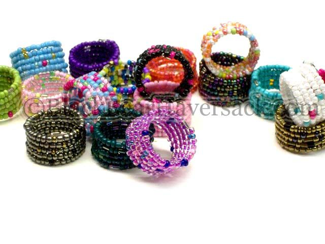 Sead Bead Wire Ring   Seed Bead Memory Wire Rings - Rings