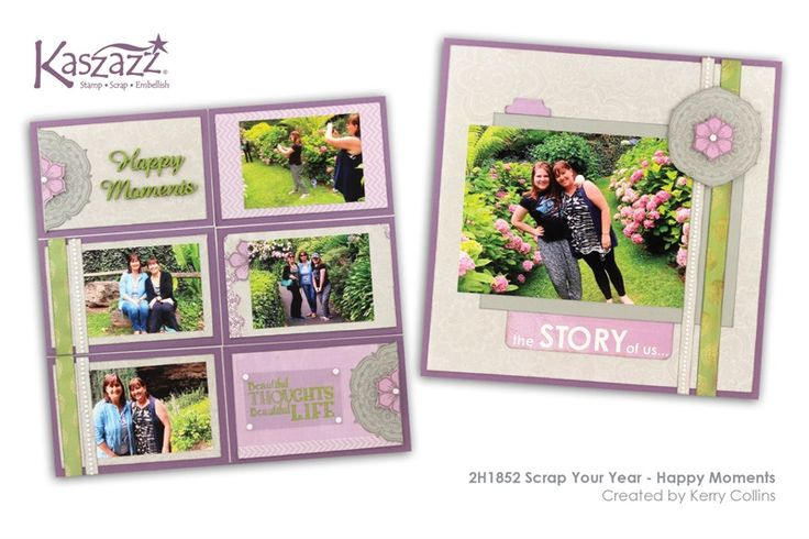 2H1852 Scrap Your Year - Happy Moments