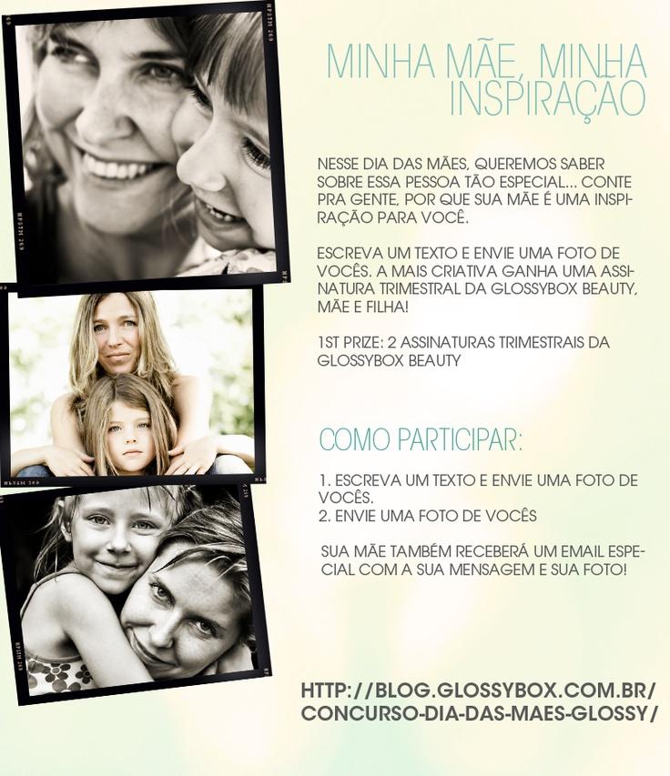 Flyer com regras do Concurso Dia das Mães Glossybox