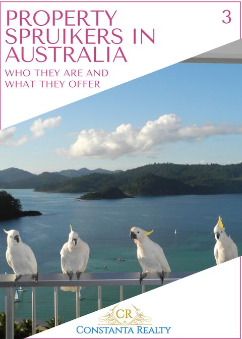 Hamilton island, Australia on photo.  Article: The number of property spruikers in Australia is rising
