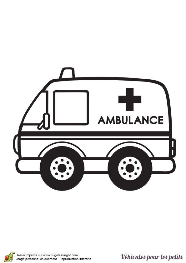 104 best images about coloriages de voitures on pinterest - Coloriage ambulance ...