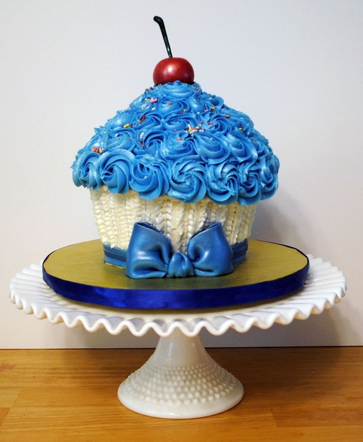 Wilton Giant Cupcake Cake | giant cupcake cake giant cupcake made with the wilton pan and ...