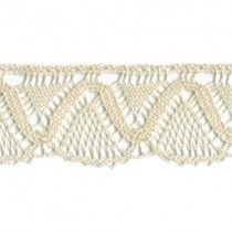 "1 1/8"" Cream Cotton Lace Trim"