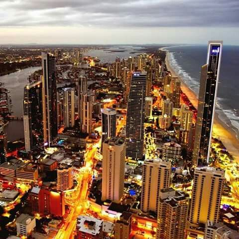 Gold Coast frm the top ov the Q1 tower