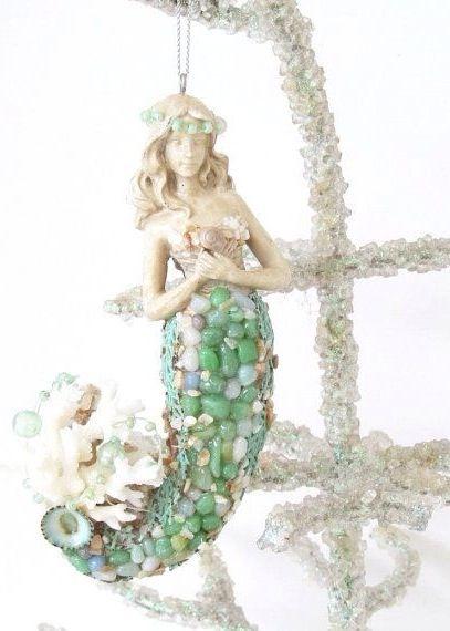 Mermaid ornament #CoastalChristmas....want her for my Christmas tree!!