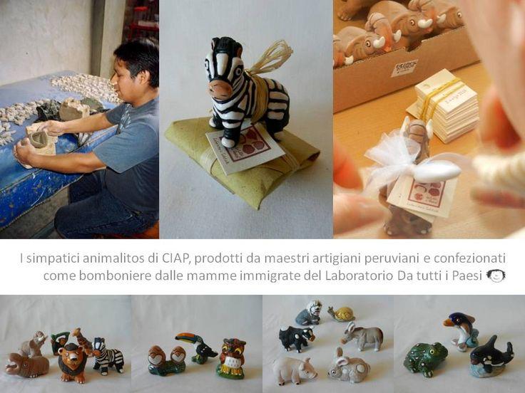 Animalitos prodotti in Perù e confezionati come bomboniere nel Laboratorio solidale Da tutti i Paesi