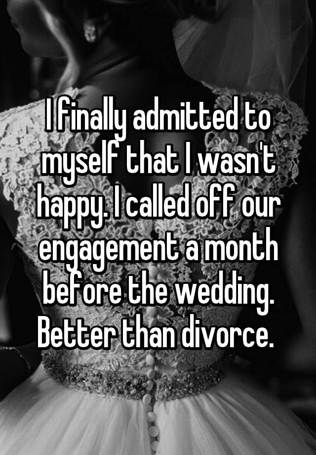 Better than divorce, right?
