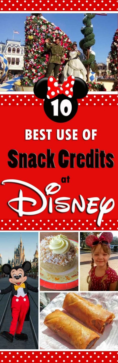 10 ideas for the best use of snack credits while in Walt Disney World, Orlando, Florida.  Lots of photos of great snacks and lots more photos being added all the time.  Make the best of your Walt Disney World holiday vacation!  Fantastic uses for your Disney Dining Plan Snack Credits.