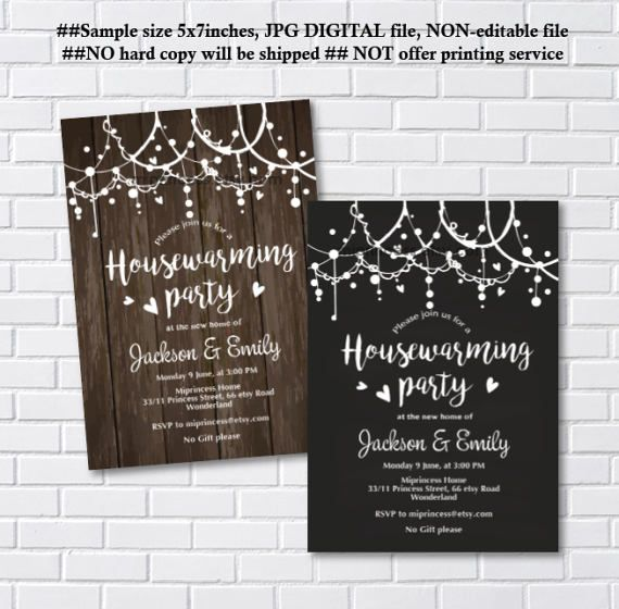 housewarming invitation party invites New house home by miprincess