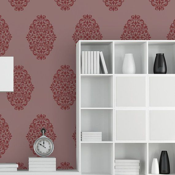 Damask Wall Stencils Pattern Large Size Reusable Wall Stencil