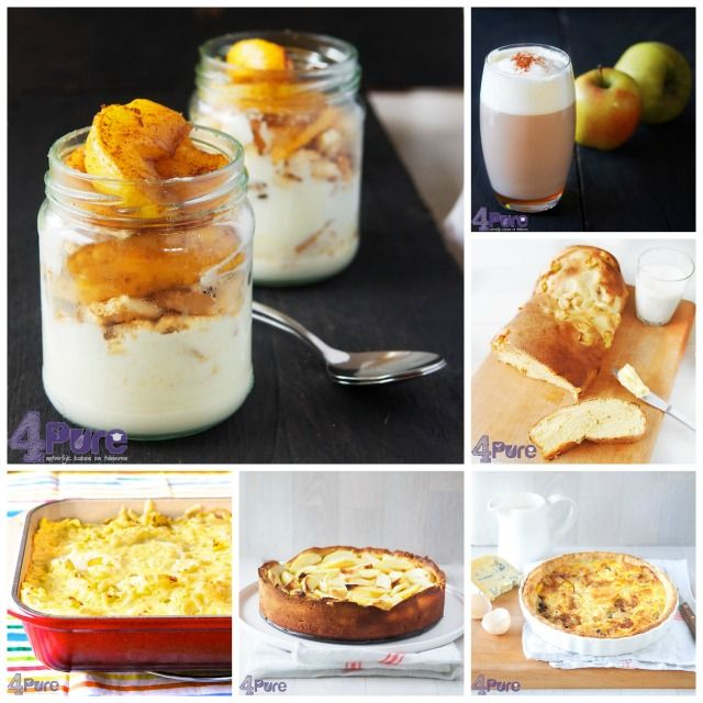 16 delicious recipes with apples - 4Pure #recipes #4pure #apples #fall #dessert #mainmeal #bread #casserole #pie #coffee