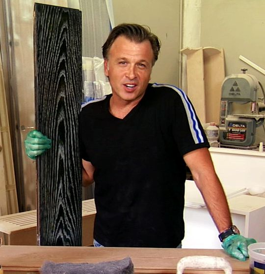 """""""Million Dollar Contractor"""" Stephen Fanuka shows how add a pop of color to wood stains."""