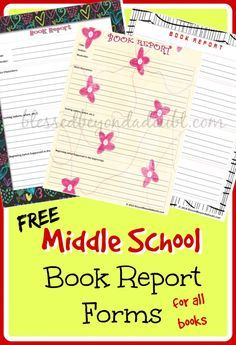 Is your middle schooler working on book reports? These FREE printable book report forms are perfect for practice! :: www.thriftyhomeschoolers.com