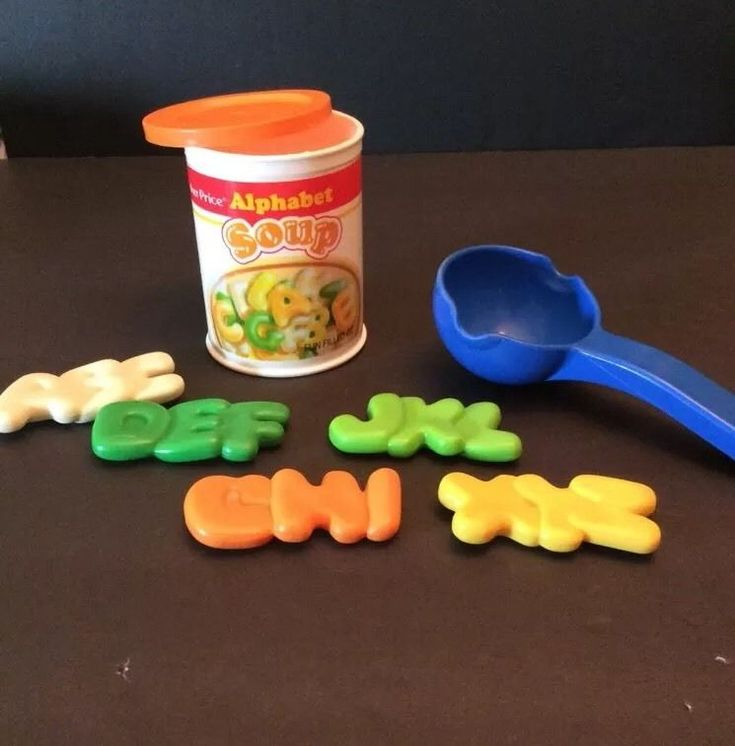 Fisher Price Fun with Food Alphabet Soup Letters Can Ladle Play Pretend Food #FisherPrice