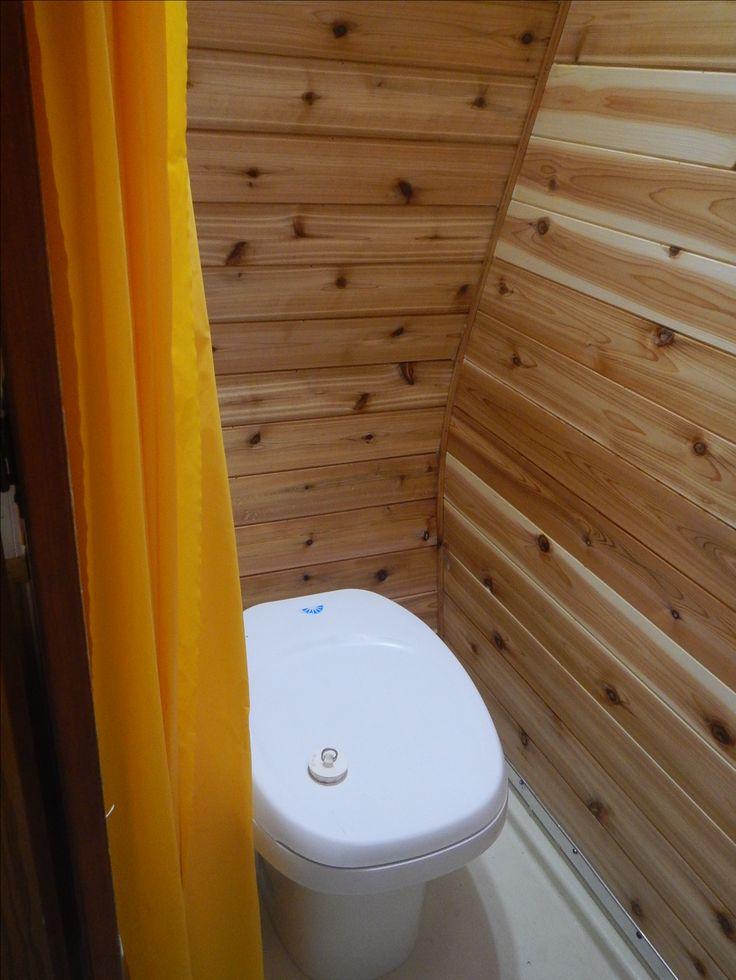 New oiled cedar in the wet bath