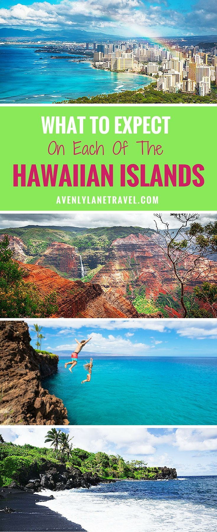 Each island in Hawaii is so unique and beautiful it can be hard to decide which one you should visit.  Here you can find Ultimate Guide to all of the Hawaiian Islands! -Avenly Lane Travel