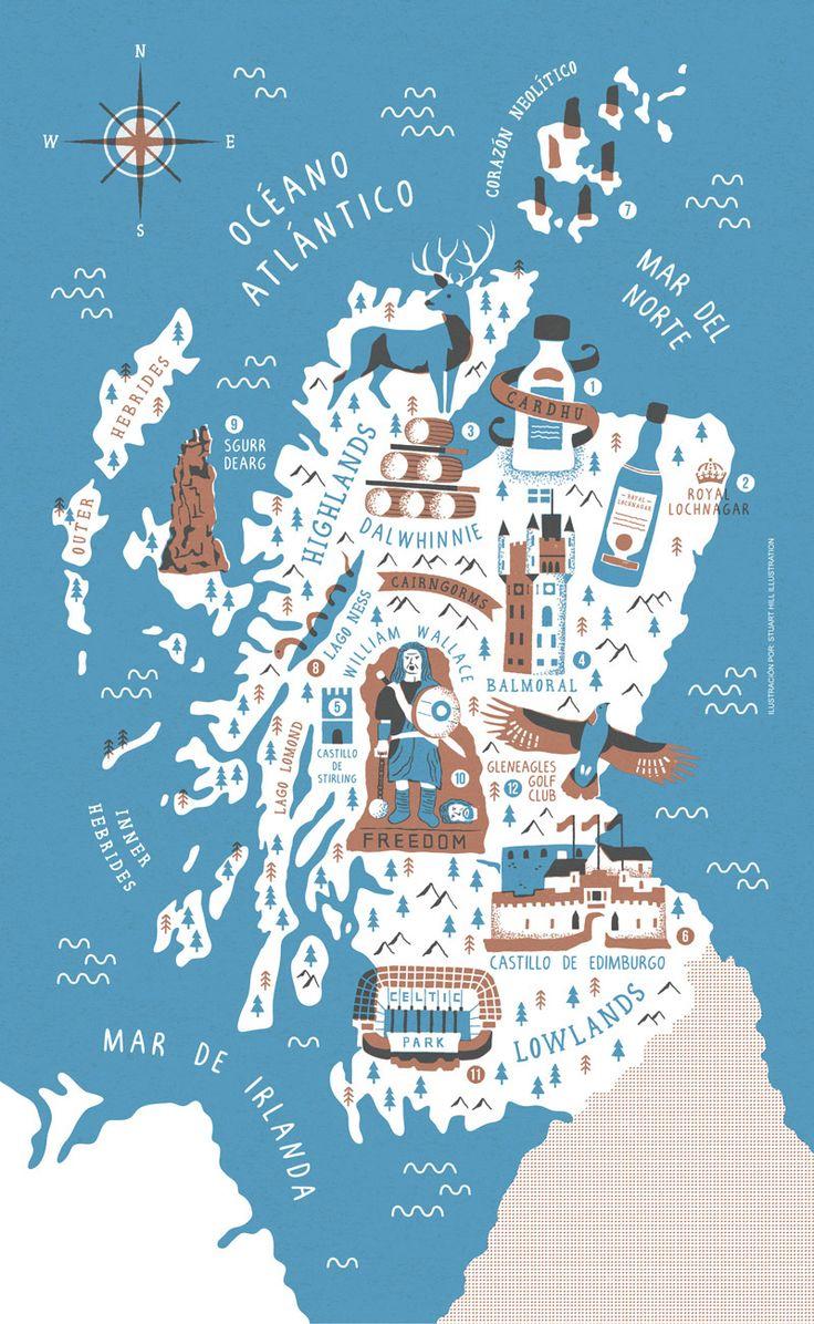 Scottish Whiskey Map - Stuart Hill