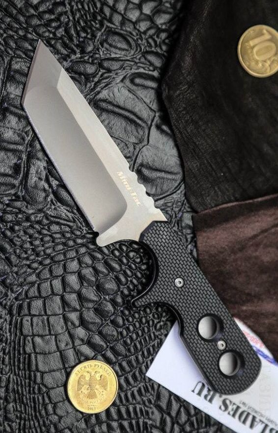 Cold Steel Mini Tac Tanto Fixed Tactical Neck Knife Blade