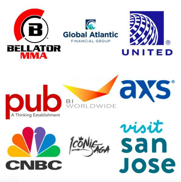 Bellator MMA, Global Atlantic, United, Pub-Creative, BI Worldwide, AXS TV, CNBC, Iconic Saga, Visit San Jose