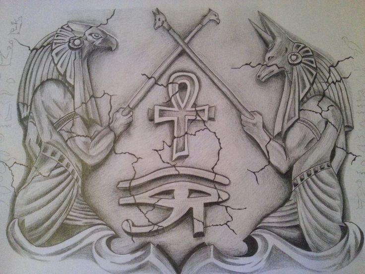 21 best egyptian tats images on pinterest ankh tattoo for Egyptian tattoo flash