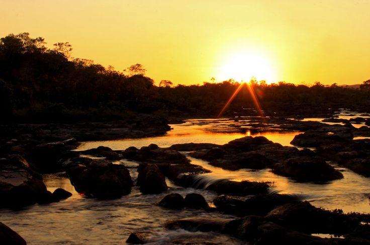 Nascer do sol na Cachoeira das Sete Quedas - Chapada dos Veadeiros