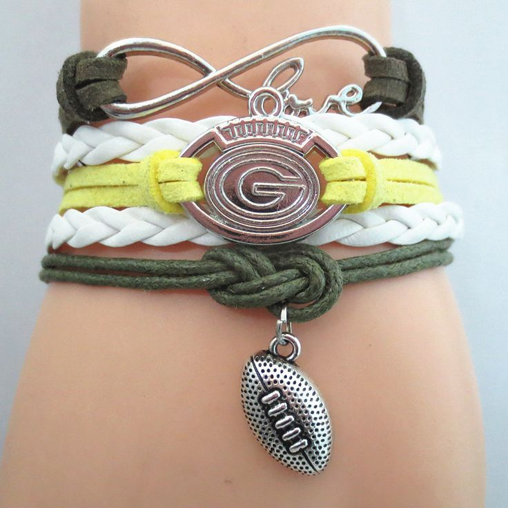 Infinity Love Green Bay Packers Football - Show off your teams colors! Cutest Love Green Bay Packers Bracelet on the Planet! Don't miss our Special Sales Event. Many teams available. www.DilyDalee.co