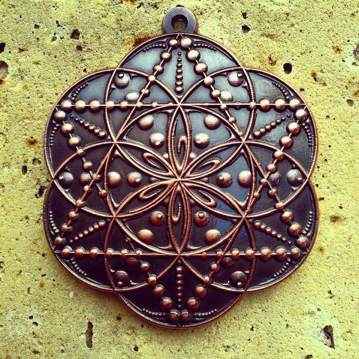 Drop, Seed Of Life Pendant By Enlighten. Artwork By Tyler Epe.  Original Sacred Geometry Jewelry by Enlighten by Enlightenclothingco on Etsy https://www.etsy.com/listing/212206652/drop-seed-of-life-pendant-by-enlighten