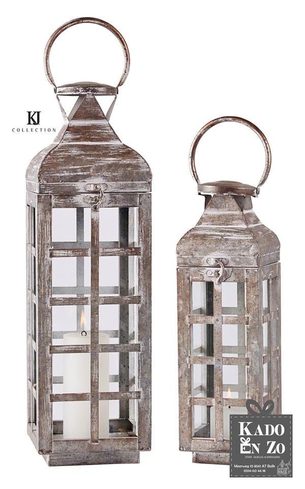 Dit zijn mooie stoere lantaarns, ze zijn in er in 35 cm en 48 cm hoog. Te koop bij Kado en Zo Balk