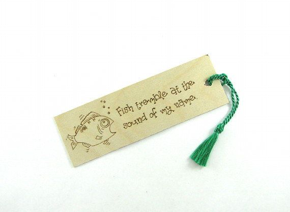 Wooden bookmark  Creative Wood Pyrography  Fishing by bkinspired, $7.00 #pcfteam