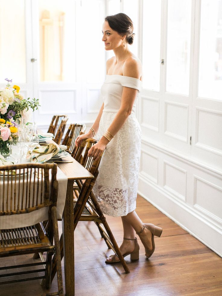 Planning your rehearsal dinner? Get inspired by this Chancey Charm planned rehearsal dinner featuring the Camilyn Beth Oliver Dress in Ivory!  Photos by: Amy Nicole Photography