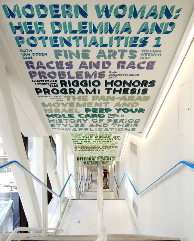 intégral Ruedi Baur Paris design at The New School University Center. Hand painted by Overall Murals.