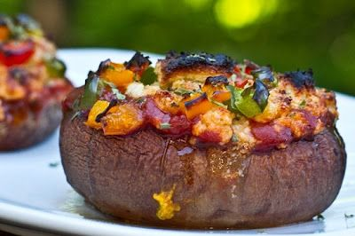 Easy Pizza Stuffed Portobello Mushrooms - Vegan