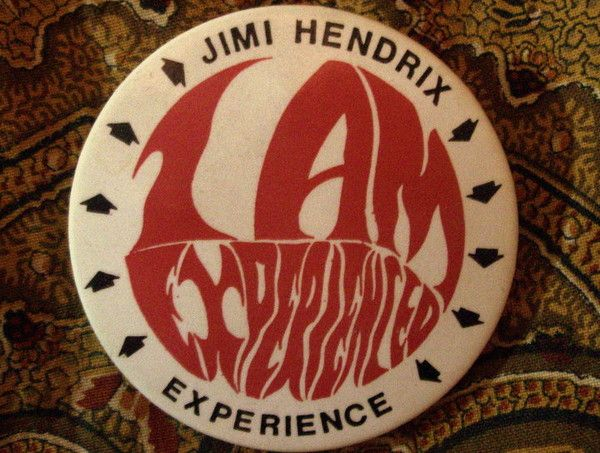 """jimi69hendrix: """" Are you experienced? """" I HAVE THIS BUTTON IT CAME WITH BOX SET jh bLUES uk EDITION"""