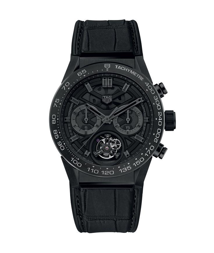 TAG Heuer Carrera Calibre HEUER 02 T Chronograph 100 M - 45 mm Black Phantom Titanium CAR5A8Z.FC6377 TAG Heuer watch price